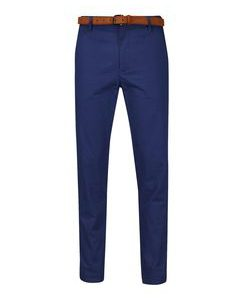 Blue_Slim_Fit_Belted_Chinos